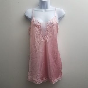 Victoria's Secret Lingerie Chemise Pink Lace Teddy